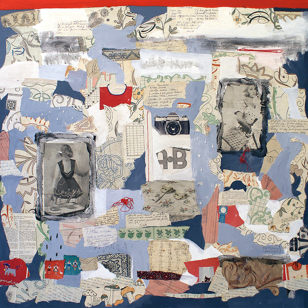 kombinirana tehnika / mixed media, 100x100 cm, 2010.