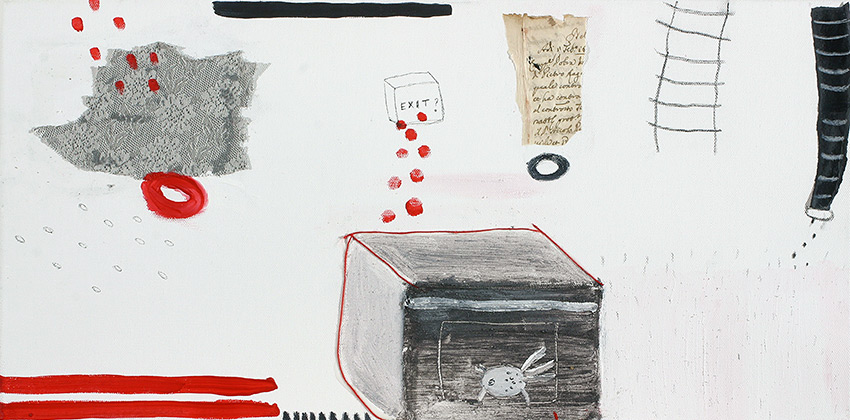 kombinirana tehnika / mixed media, 70x30 cm, 2007.