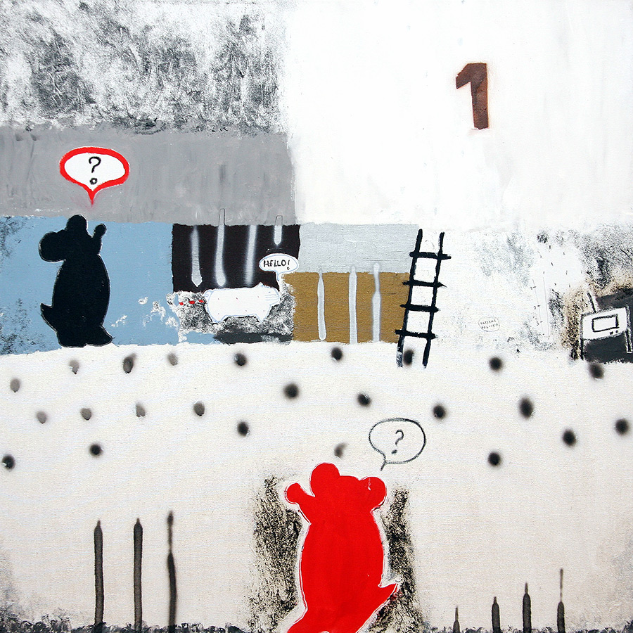 kombinirana tehnika / mixed media, 130x130 cm, 2010.