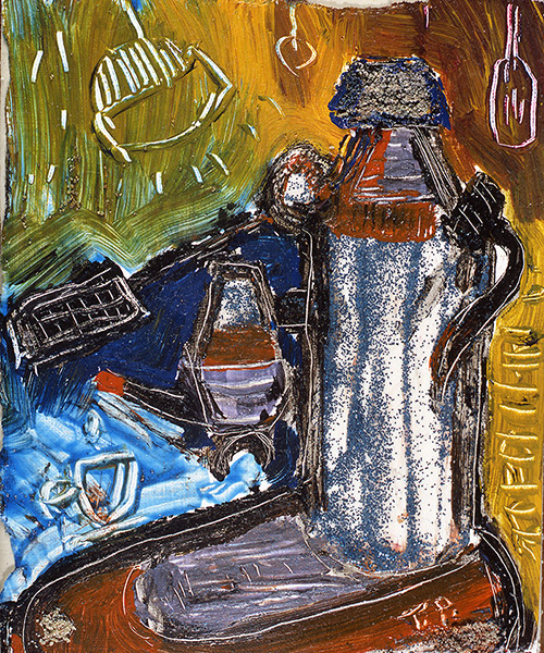 kombinirana tehnika/mixed media, 24x30 cm, 2001.