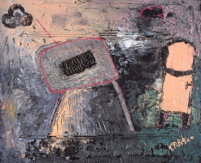 kombinirana tehnika/mixed media, 30x24 cm, 2001.