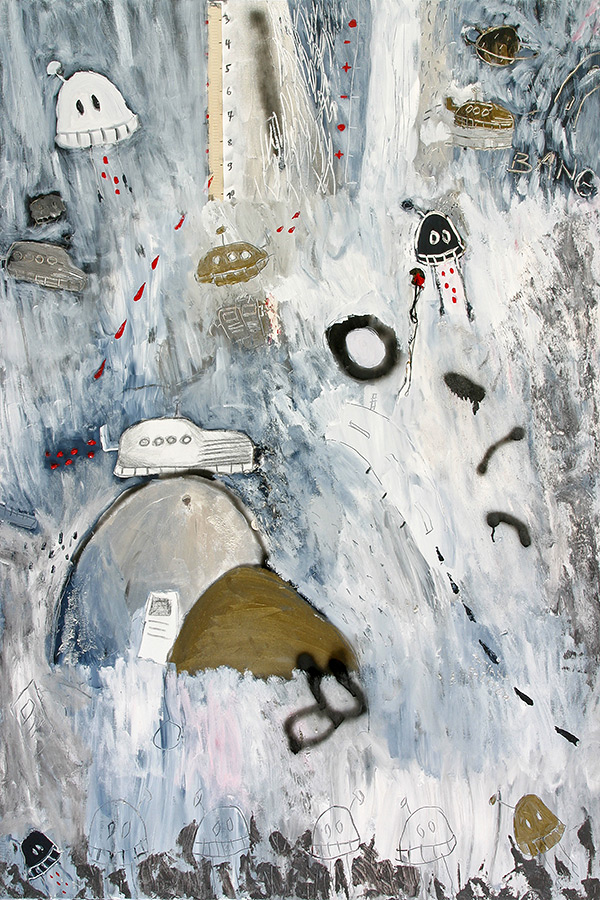 kombinirana tehnika / mixed media, 100x150 cm, 2007.