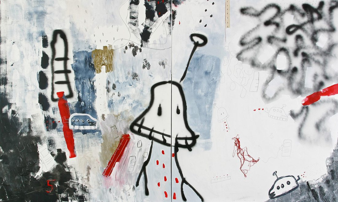 kombinirana tehnika / mixed media, 200x120 cm, 2007.