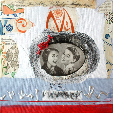 kombinirana tehnika / mixed media, 20x20 cm, 2010.