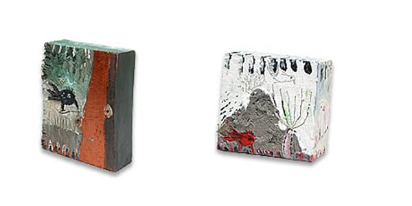 kombinirana tehnika / mixed media, 19x14x5 cm // 13x13x5 cm, 2007.