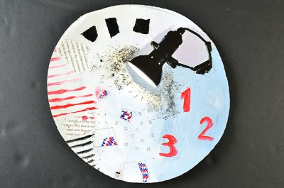 kombinirana tehnika / mixed media, promjer / diameter 25 cm, 2015.