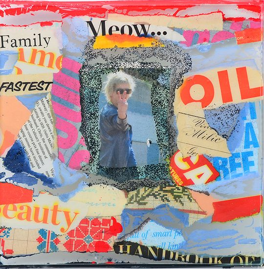 laminiranje, kolaž, akril/laminating, collage, acrylic, 20 x 20 cm, 2013.