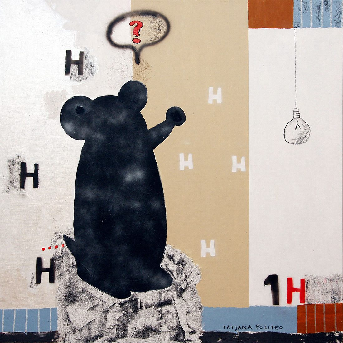 kombinirana tehnika / mixed media, 150x150 cm, 2010.