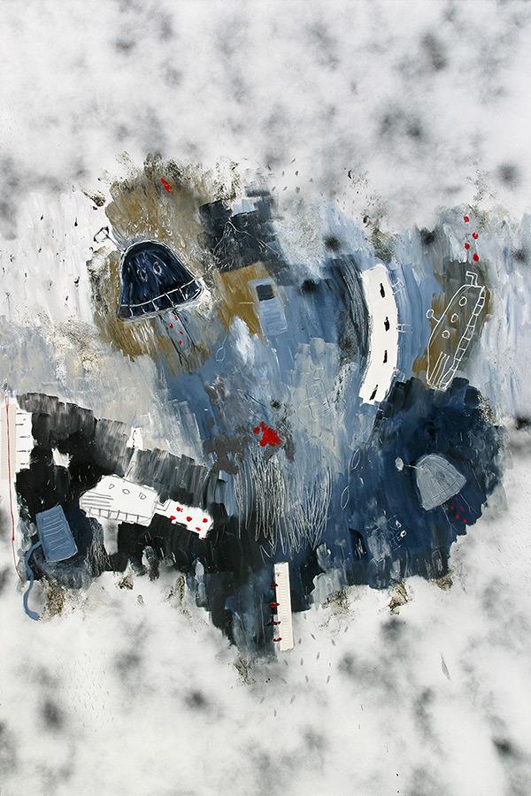 kombinirana tehnika / mixed media, 100x150 cm, 2007.