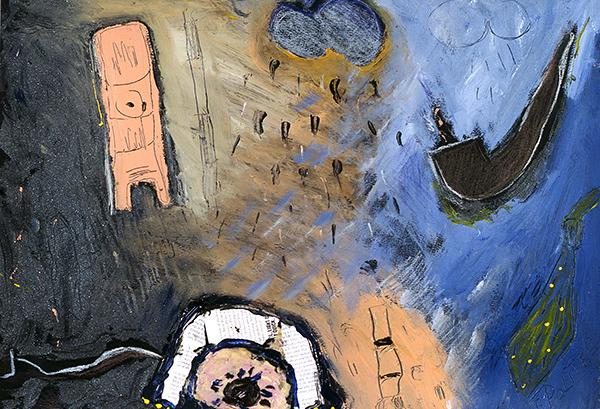 kombinirana tehnika/mixed media, 50x40 cm, 2002.