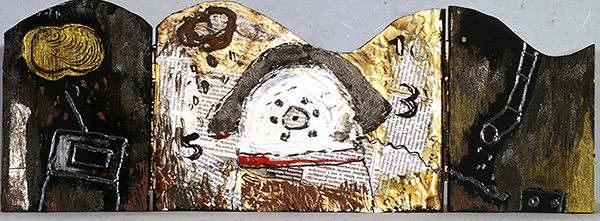 kombinirana tehnika/mixed media, 50x20 cm, 2002.