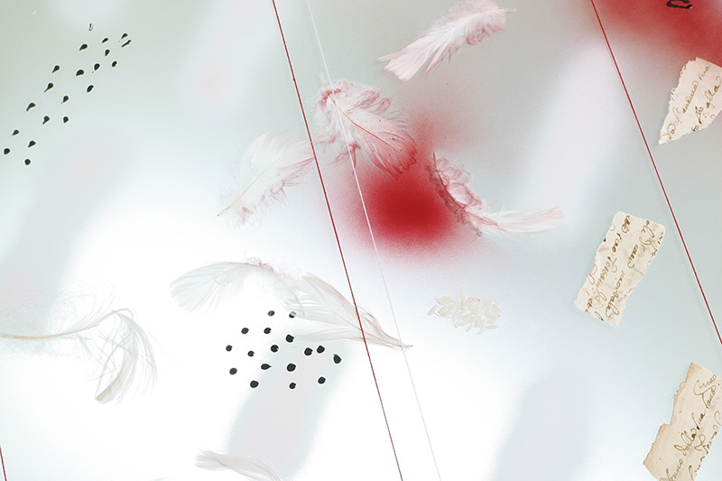 pjeskarenje, laminiranje, airbrush / sanding, lamination, airbrush, 64x64 cm, 2005.